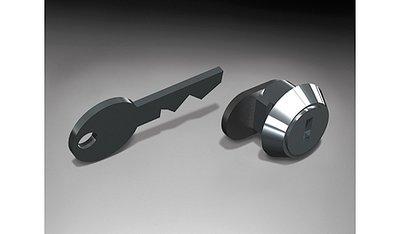 Cylinderslot met sleutel